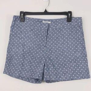 Adrienne Vittadini-Blue shorts w/polka dots size-8